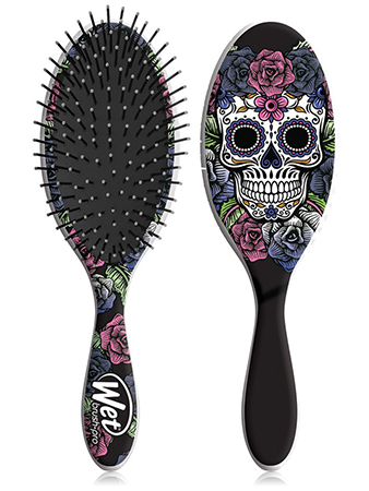 Wet Brush Sugar Skull Purple Rose Щетка для спутанных волос Калавера