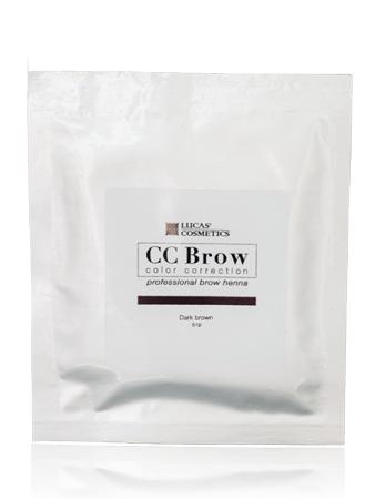 CC Brow Dark Brown Хна СС для бровей в саше темно-коричневая