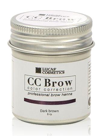 CC Brow Dark Brown Хна для бровей СС в баночке темно-коричневая