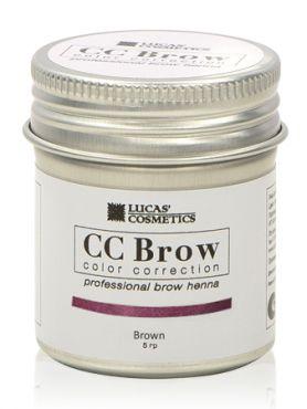 CC Brow Brown Хна для бровей СС в баночке коричневая